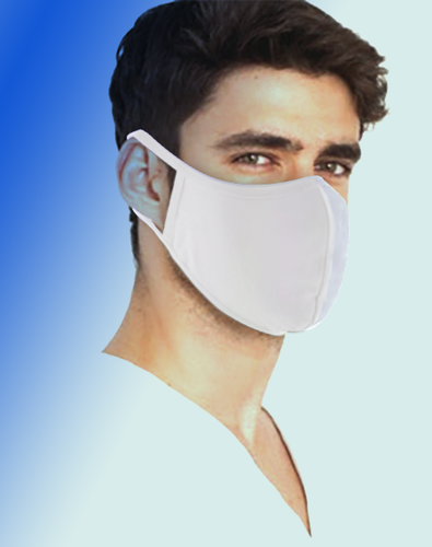 Fabric GA 2 Ply White Face Mask, Washable, Pack of 50 pcs(10 bags)($.95 each), FREE SHIPPING