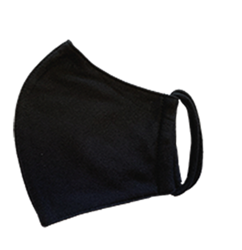 Fabric Face Mask, 3-ply, Washable, Style B-1, Black (Blue Label)- Pack of 2($1.99 each)
