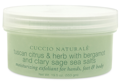 Cuccio Tuscan Citrus & Herb with Bergamot and Clary Sage Sea Salts 19.5 oz