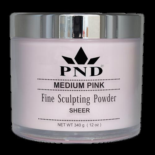 PND Acrylic Powder (Fine Sculpting Powder) - Medium Pink 12oz