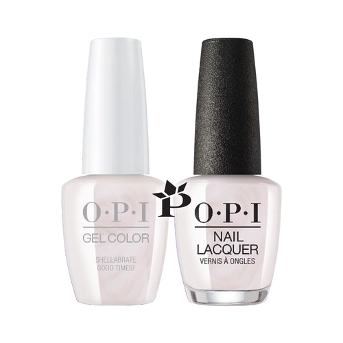 OPI Duo - GCE94  + NLE94 - Shellabrate Good Times!  .5 oz