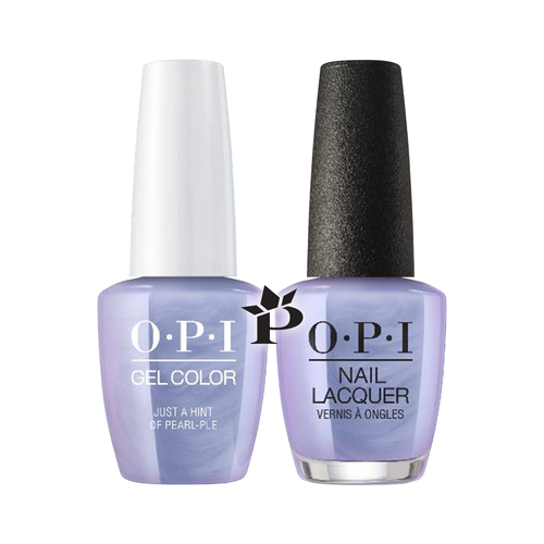 OPI Duo - GCE97  + NLE97 - Just a Hint of Pearl-ple  .5 oz