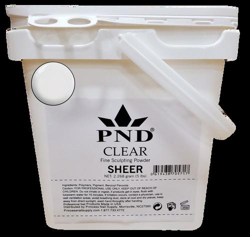 PND Acrylic Powder (Fine Sculpting Powder) 5 lb - Clear