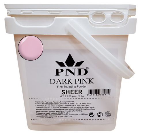 PND Acrylic Powder (Fine Sculpting Powder) 5 lb - Dark Pink