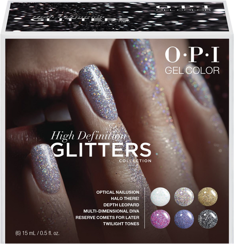 OPI GelColor - GC301  High Definition Glitters Add-On Kit - 6pcs