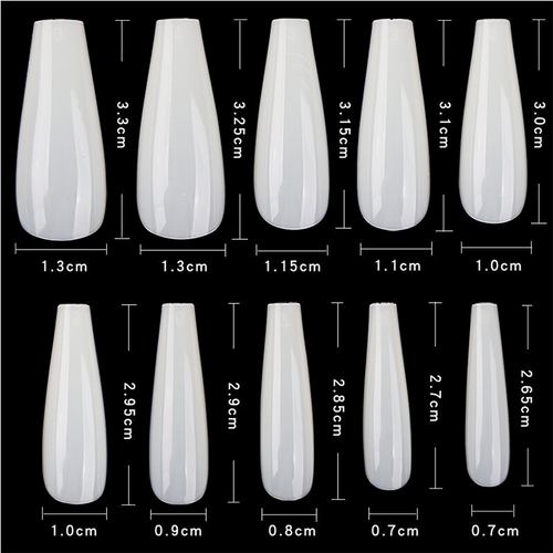 PND (Creation) Nail Tip, #06 Coffin Natural Box/600pcs (15167)