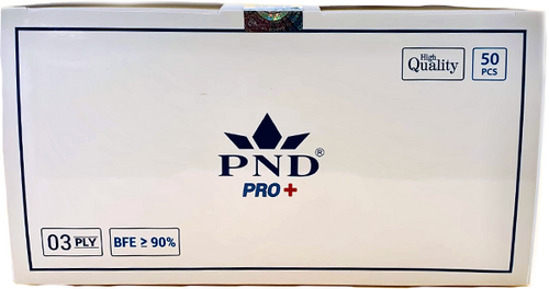 Disposable PND 3 Ply Face Mask Level 1(90%) 50pcs/Box Pre-Packed 50 boxes (Net $7.00/box)