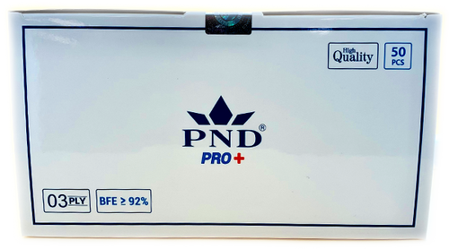 Disposable PND 3 Ply Face Mask Level 2(92%) 50pcs/Box Pre-Packed 50 boxes (Net $7.00/box)