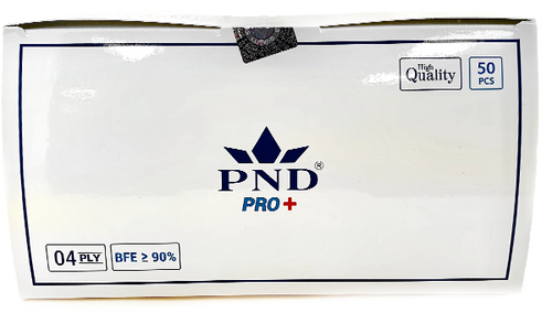 Disposable  PND 4 Ply Face Mask Level 1(90 %) 50pcs/box