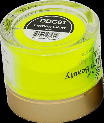 iGel Dip & Dap Powder 2oz - Glow in Dark - DDG01 Lemon Glow