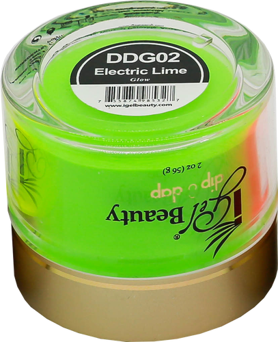 iGel Dip & Dap Powder 2oz - Glow in Dark - DDG02 Electric Lime