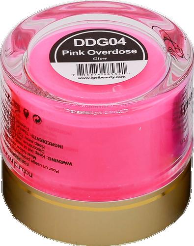 iGel Dip & Dap Powder 2oz - Glow in Dark - DDG04 Pink Overdose