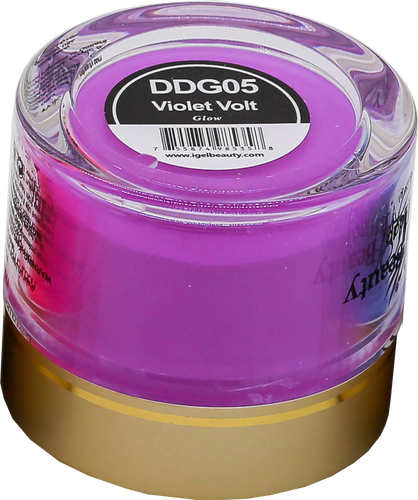 iGel Dip & Dap Powder 2oz - Glow in Dark - DDG05 Violet Volt