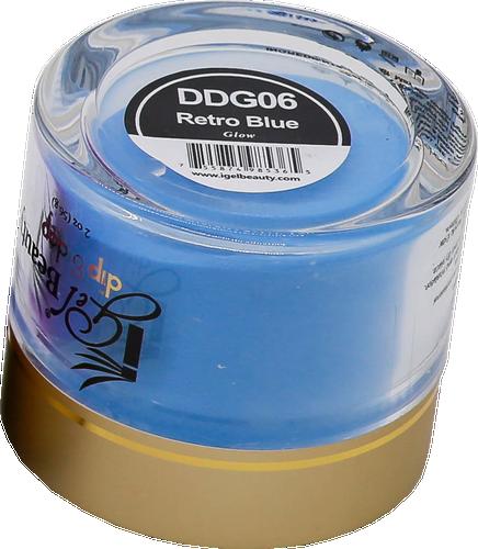 iGel Dip & Dap Powder 2oz - Glow in Dark - DDG06 Retro Blue