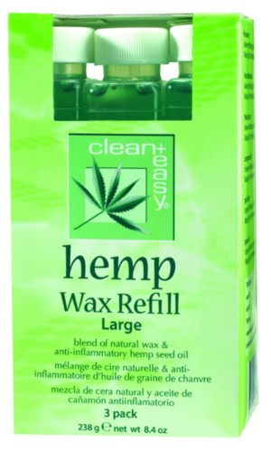 Clean Easy Hemp Wax Refill LARGE 3 pack