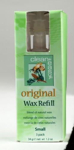 Clean+ Easy Original Wax Refill - Small Cartridges, 3 Pack
