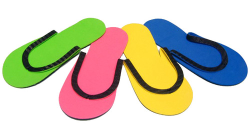 Slip-Resistant Rubber Strip Slipper (12 Pairs/bag)