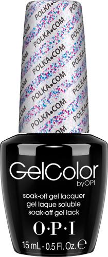 OPI GelColor (BLK) - #GCE71 - Polka.com .5 oz