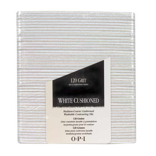 OPI - White Cushioned File - 120 Grit / Pack of 48