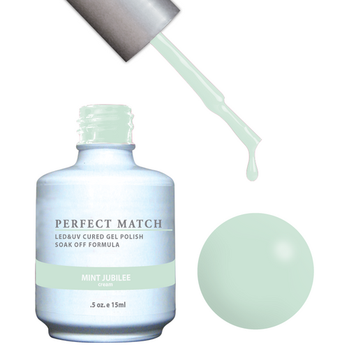 PERFECT MATCH Gel Polish + Lacquer - PMS116 MINT JUBILEE