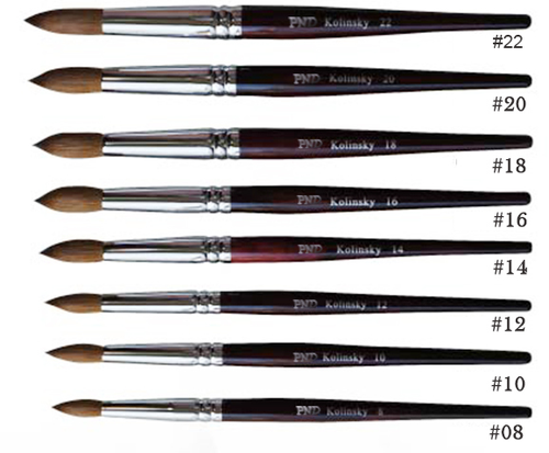 PND Acrylic Nail Brushes #8  to #22 (Prices change by size options below)