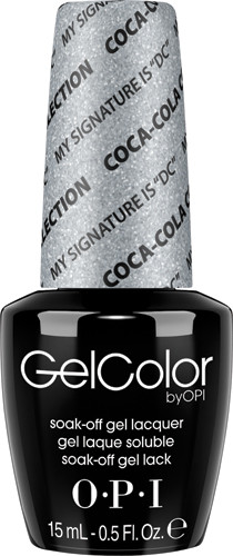 """OPI GelColor (BLK) - #GCC16 - My Signature is """"DC"""" - Coke Collection .5 oz"""