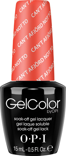 OPI GelColor (BLK) - #GCN43 - Can't aFjord Not To .5 oz