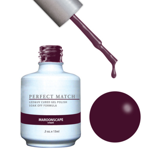 PERFECT MATCH Gel Polish + Lacquer - PMS132 Maroonscape