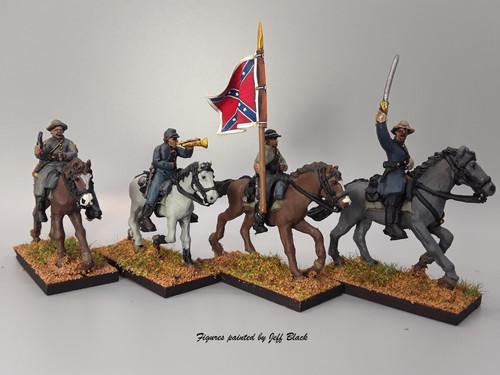 28mm Confederate Cavalry Command, summer
