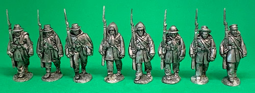 CS Infantry, Weller coats, marching at the shoulder