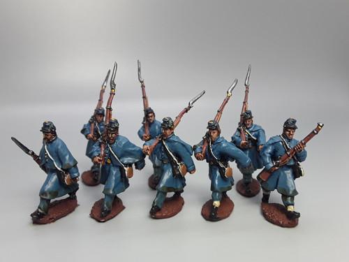 Union Irish Brigade, greatcoats, advancing