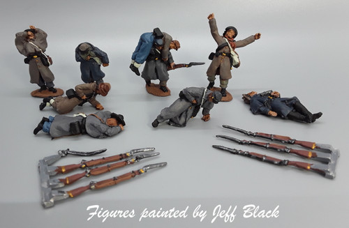 28mm Confederate infantry casualties,  greatcoats