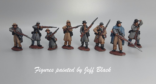 28mm CS Infantry, in Weller overcoats, firing