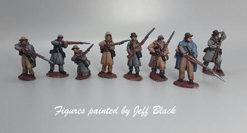 28mm CS Infantry, in Weller overcoats, firing