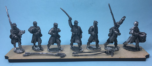 Union Infantry Command in greatcoats