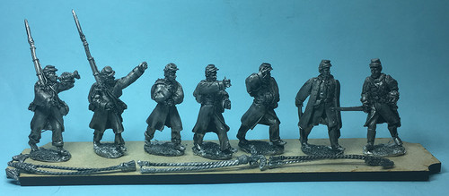 Union Infantry Command in greatcoats, B
