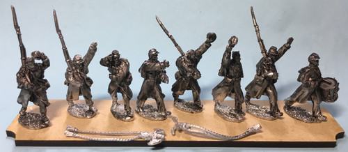 Union Infantry Command in greatcoats, C