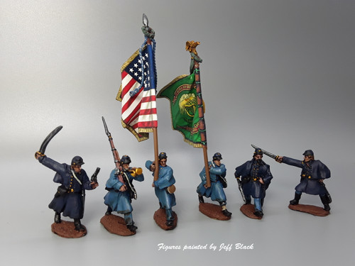 Union Irish Brigade, command,  greatcoats, advancing