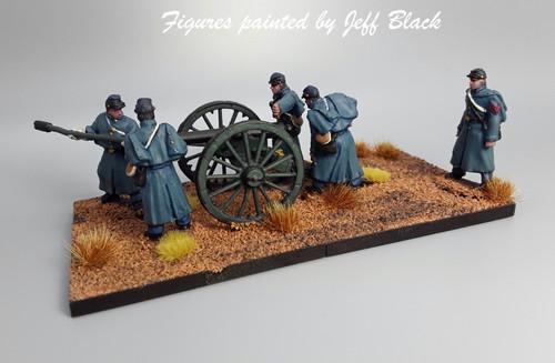 US artillery, winter, loading