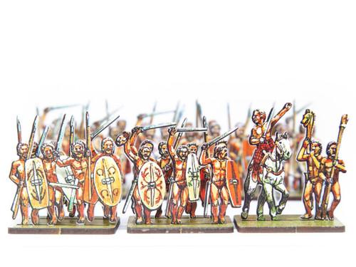 18mm Gaesati Naked Gallic Mercenaries