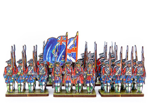 28mm British Army Infantry Blue Facings