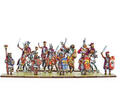 28mm Roman and Allied Mounted Officers and Commanders