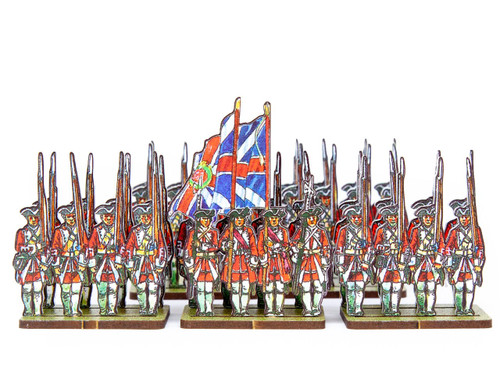 18mm British Army Infantry White Facings