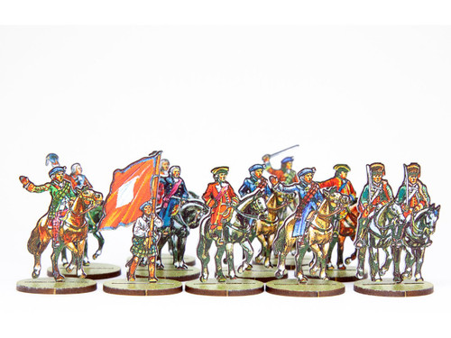 18mm Jacobite and British Mounted Officers