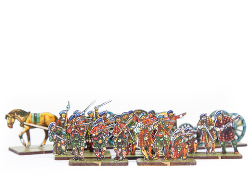 18mm Limbered  Artillery & Skirmishers