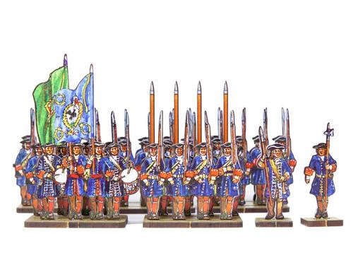 18mm Dutch/Prussian infantry (blue uniforms)