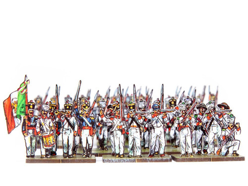 28mm Mexican Infantry in Fatigue Uniform
