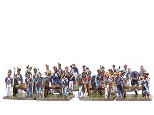 18mm Mexican and Texian Artillery