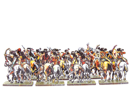 18mm Mounted Comanche Warriors