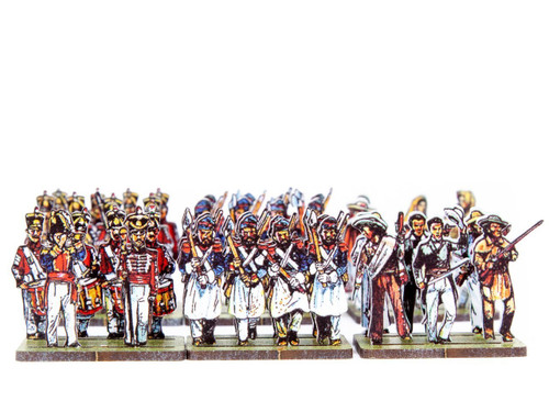 28mm Mexican band and sappers, Texian Characters